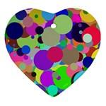 Balls Heart Ornament Front