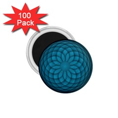 Spirograph 1 75  Button Magnet (100 Pack) by Siebenhuehner