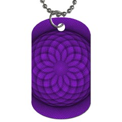 Spirograph Dog Tag (two Sided)  by Siebenhuehner