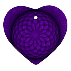 Spirograph Heart Ornament (two Sides) by Siebenhuehner