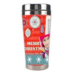 Christmas By Merry Christmas   Stainless Steel Travel Tumbler   5hto18ewukcm   Www Artscow Com Left
