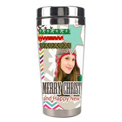 Christmas By Merry Christmas   Stainless Steel Travel Tumbler   1l9hjjin8hef   Www Artscow Com Left
