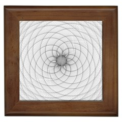 Spirograph Framed Ceramic Tile by Siebenhuehner