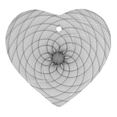 Spirograph Heart Ornament by Siebenhuehner
