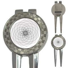 Spirograph Golf Pitchfork & Ball Marker by Siebenhuehner