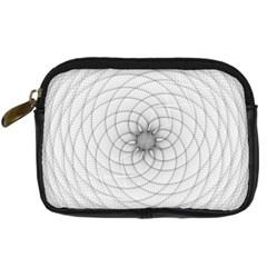 Spirograph Digital Camera Leather Case by Siebenhuehner