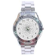 Spirograph Stainless Steel Watch (men s) by Siebenhuehner