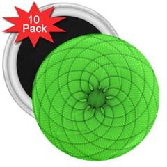 Spirograph 3  Button Magnet (10 Pack) by Siebenhuehner