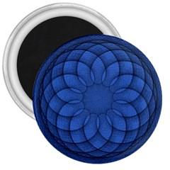 Spirograph 3  Button Magnet by Siebenhuehner