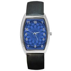 Spirograph Tonneau Leather Watch by Siebenhuehner