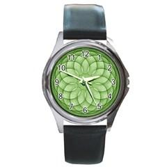 Spirograph Round Metal Watch (silver Rim) by Siebenhuehner