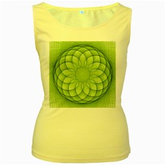 Spirograph Womens  Tank Top (yellow) by Siebenhuehner
