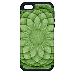 Spirograph Apple Iphone 5 Hardshell Case (pc+silicone) by Siebenhuehner