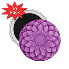 Spirograph 2 25  Button Magnet (10 Pack) by Siebenhuehner
