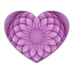 Spirograph Mouse Pad (heart) by Siebenhuehner