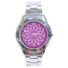 Spirograph Stainless Steel Watch (men s) by Siebenhuehner