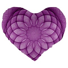 Spirograph 19  Premium Heart Shape Cushion by Siebenhuehner