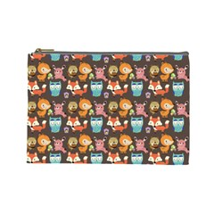 Woodland Animals Cosmetic Bag (large) by Mjdaluz