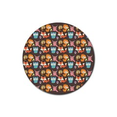 Woodland Animals Drink Coaster (round) by Mjdaluz