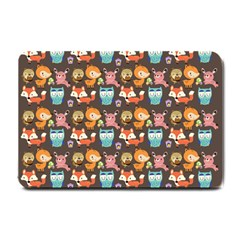 Woodland Animals Small Door Mat by Mjdaluz