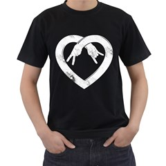 Peace Love And Rock N Roll Mens' T Shirt (black) by Contest1753604