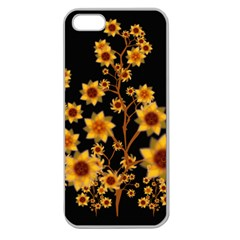 Sunflower Cheers Apple Seamless Iphone 5 Case (clear) by doodlelabel