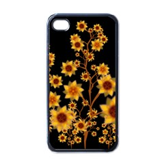 Sunflower Cheers Apple Iphone 4 Case (black) by doodlelabel