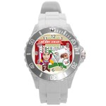 xmas - Round Plastic Sport Watch Large