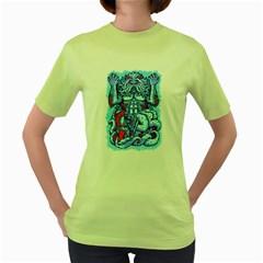 King Ocean Womens  T Shirt (green)
