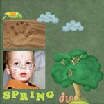 spring1 - ScrapBook Page 12  x 12