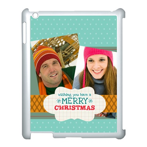 Merry Christmas By Merry Christmas   Apple Ipad 3/4 Case (white)   0lstuv4ofrzi   Www Artscow Com Front