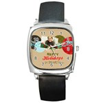merrry christmas - Square Metal Watch