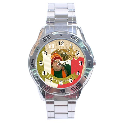 Merrry Christmas By Merry Christmas   Stainless Steel Analogue Watch   V9e34phwbytg   Www Artscow Com Front