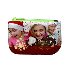 Merry Christmas By M Jan   Mini Coin Purse   G4kph1vf615r   Www Artscow Com Front