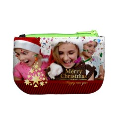 Merry Christmas By M Jan   Mini Coin Purse   G4kph1vf615r   Www Artscow Com Back