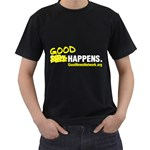 Black Tee with S*it Happens slogan