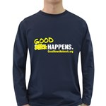 Long Sleeve Dark T-Shirt S*it Happens (Navy, Black or Red)