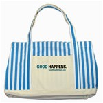 Striped Blue Tote Bag