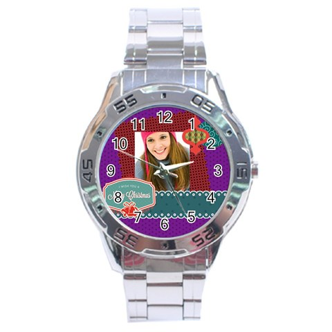 Merrry Christmas By Merry Christmas   Stainless Steel Analogue Watch   Gwtyxohp4w9b   Www Artscow Com Front
