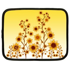 Sunflower Cheers Netbook Case (large) by doodlelabel