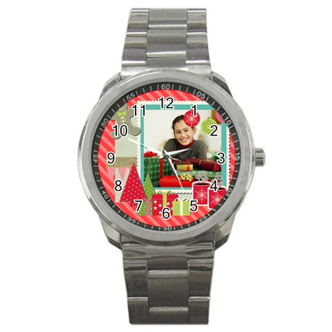 Merry Christmas By Merry Christmas   Sport Metal Watch   6brjty6x9yxm   Www Artscow Com Front