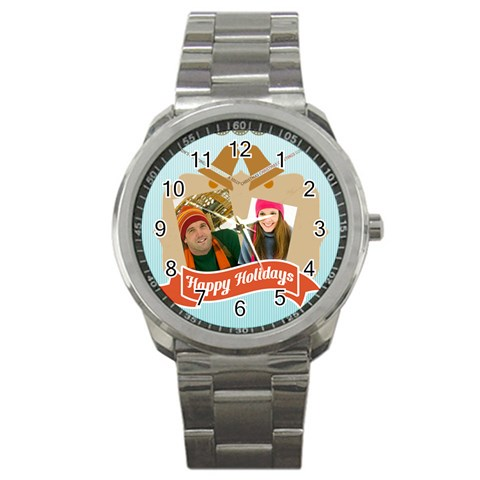 Merry Christmas By Merry Christmas   Sport Metal Watch   Yg8t3465dhg0   Www Artscow Com Front
