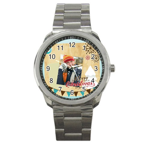 Merry Christmas By Merry Christmas   Sport Metal Watch   Supoepk8a47n   Www Artscow Com Front