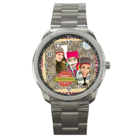 Merry Christmas By Merry Christmas   Sport Metal Watch   98s3uf4p82i6   Www Artscow Com Front