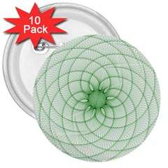 Spirograph 3  Button (10 pack) by Siebenhuehner