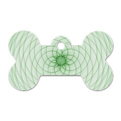 Spirograph Dog Tag Bone (two Sided) by Siebenhuehner