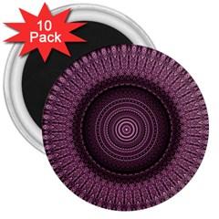 Mandala 3  Button Magnet (10 Pack) by Siebenhuehner