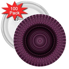 Mandala 3  Button (100 Pack) by Siebenhuehner