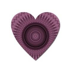 Mandala Magnet (heart) by Siebenhuehner