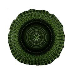 Mandala 15  Premium Round Cushion  by Siebenhuehner
